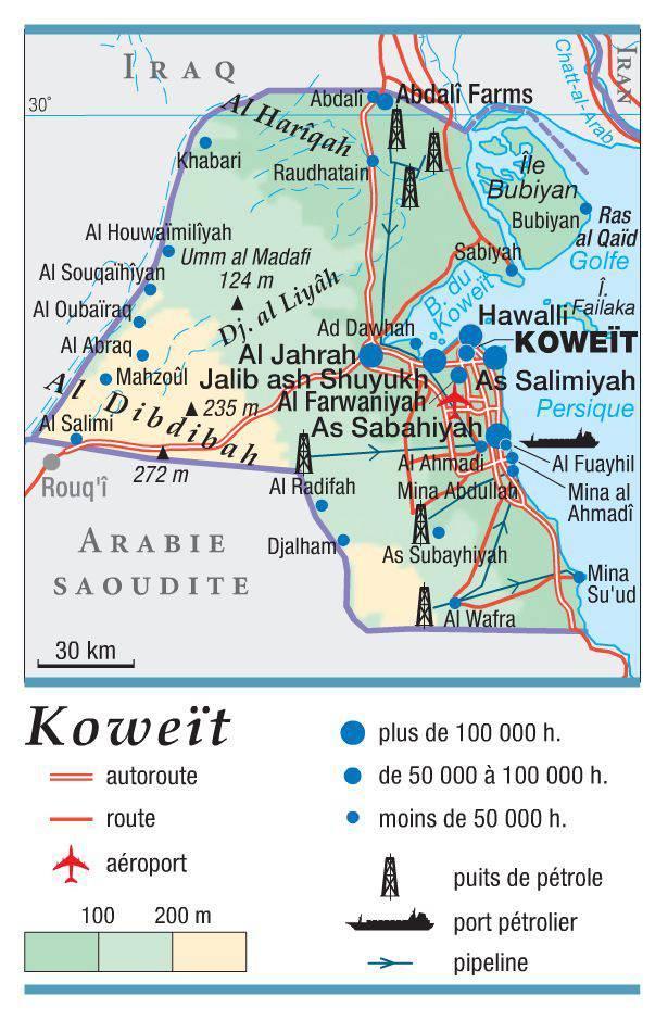 Koweït carte