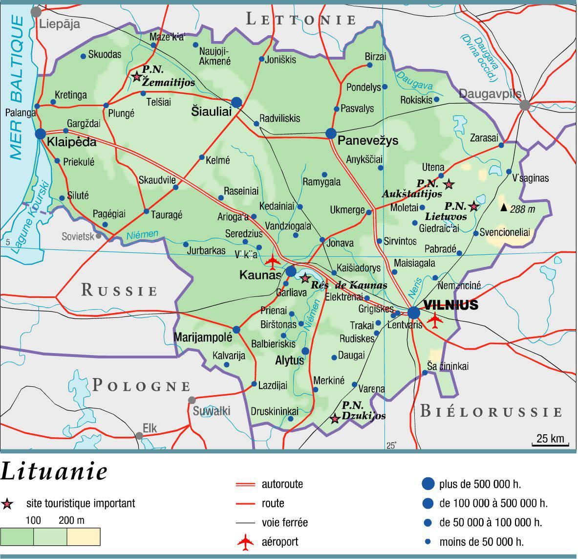 Lituanie carte