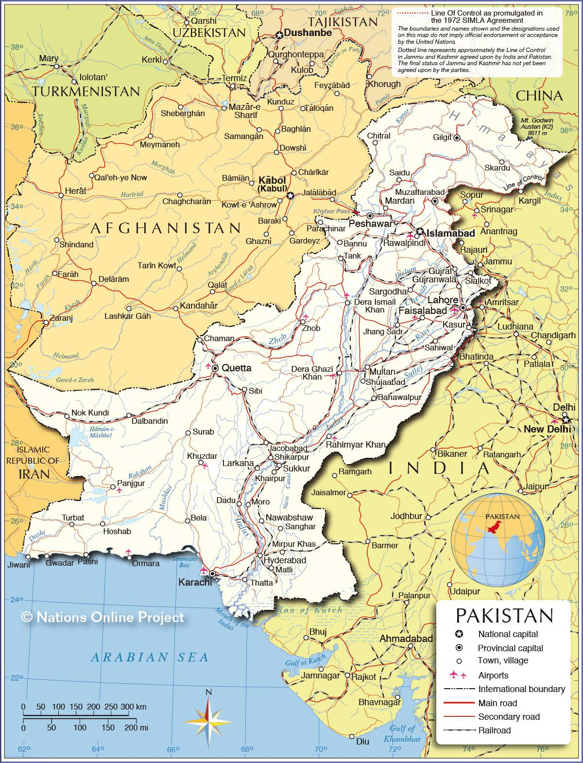 Pakistan carte