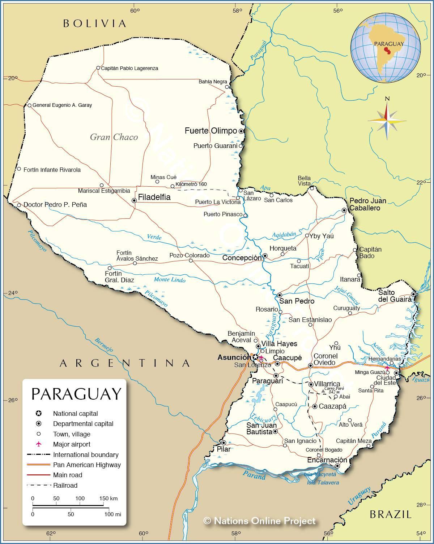 Paraguay carte