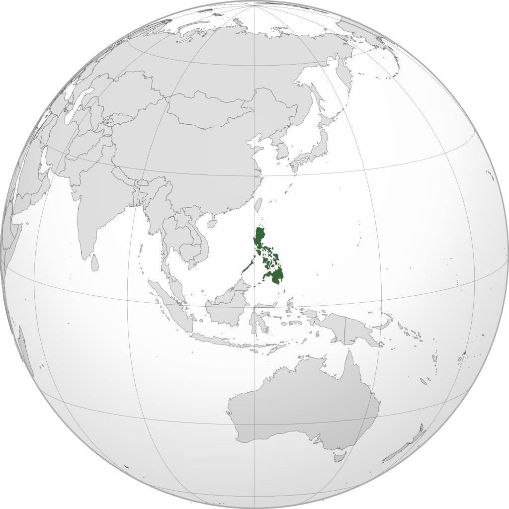 Philippines sur une carte d'Asie