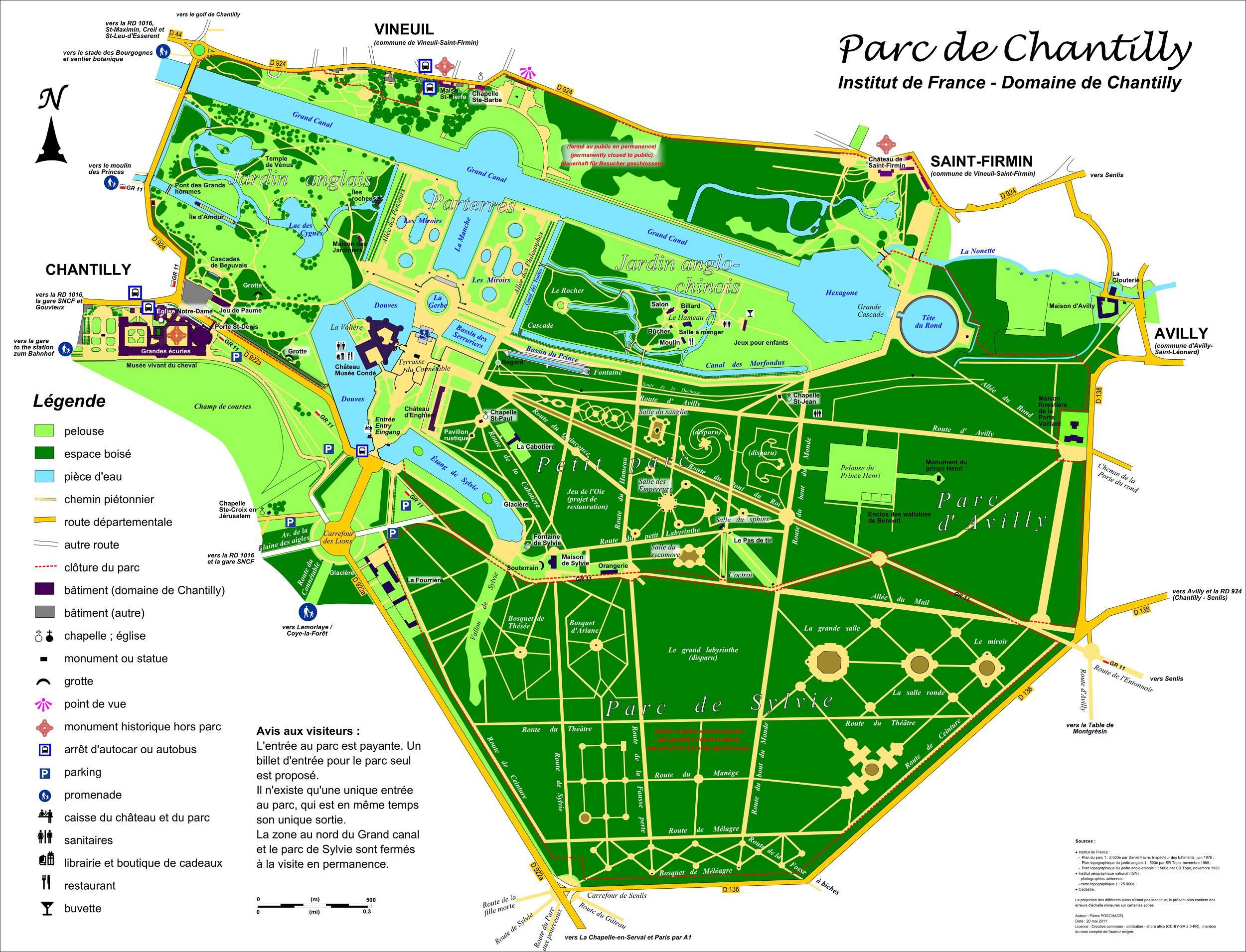 Plan du château de Chantilly