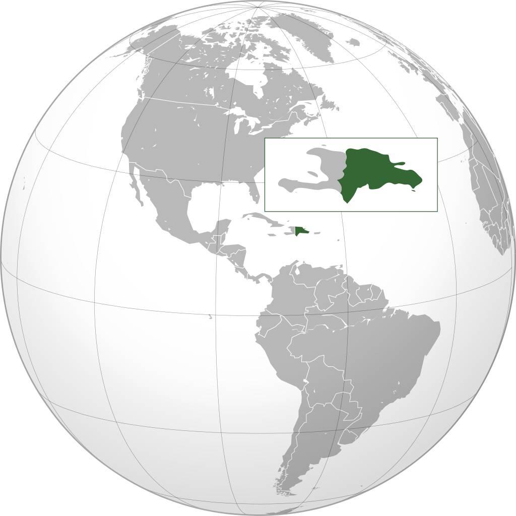 République dominicaine sur une carte de l'Amérique