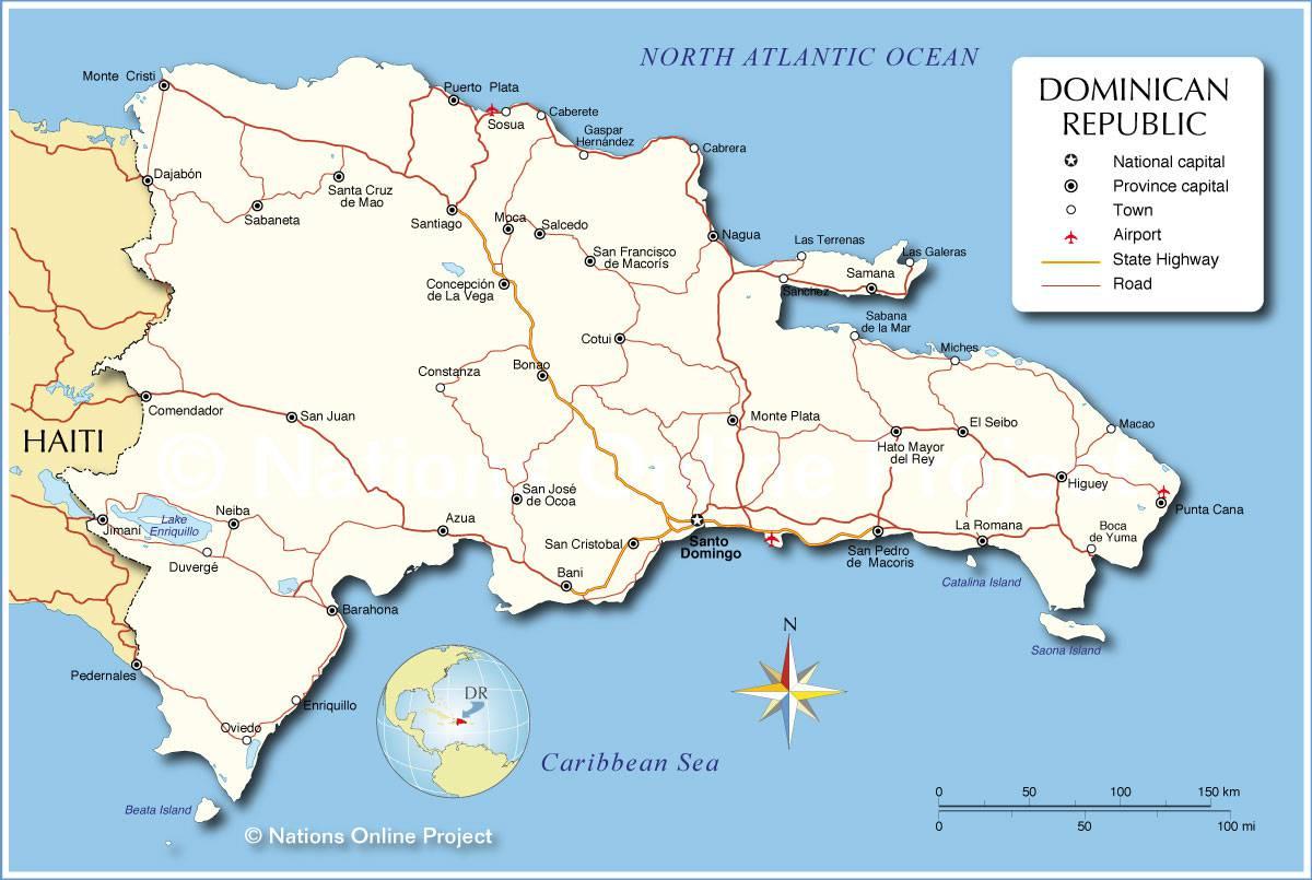 République dominicaine carte
