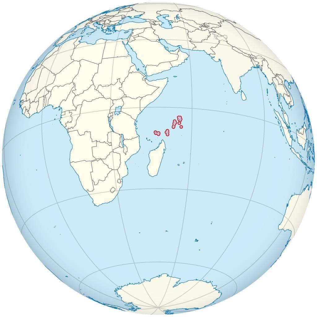 Seychelles sur une carte de l'Afrique