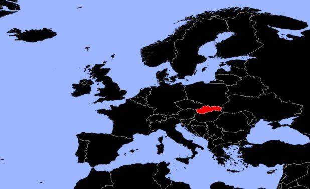 Slovaquie carte Europe