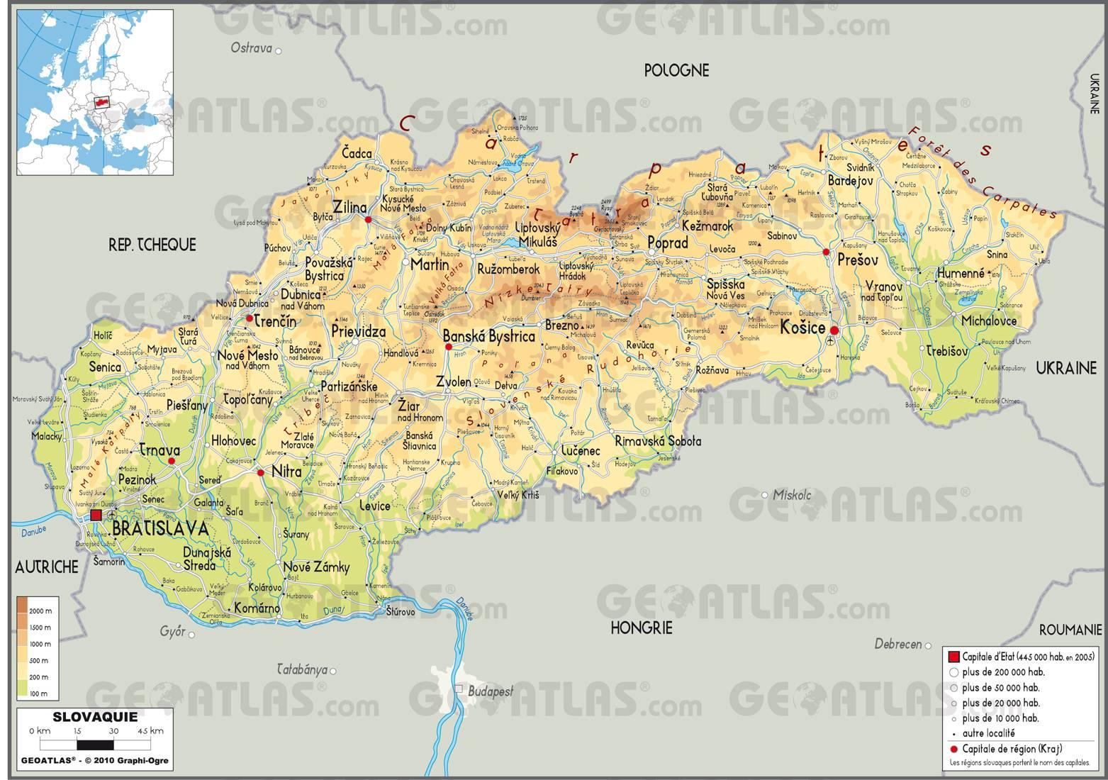 Slovaquie carte