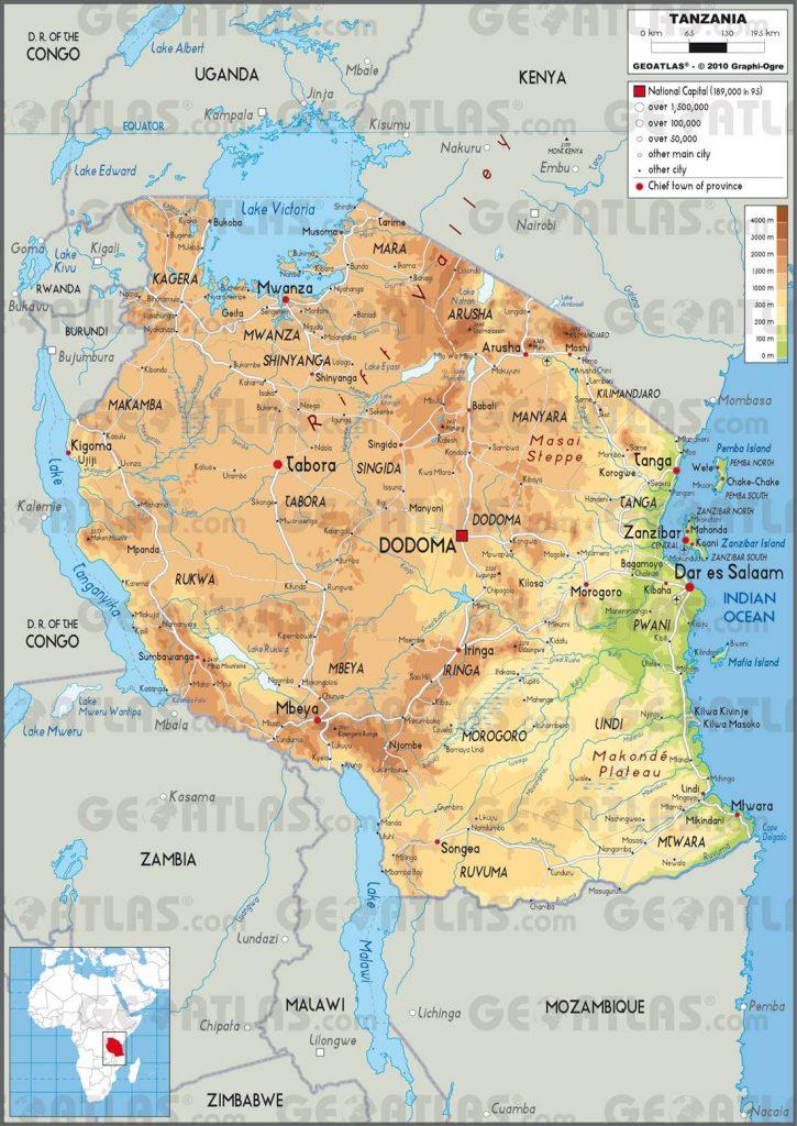 Tanzanie carte