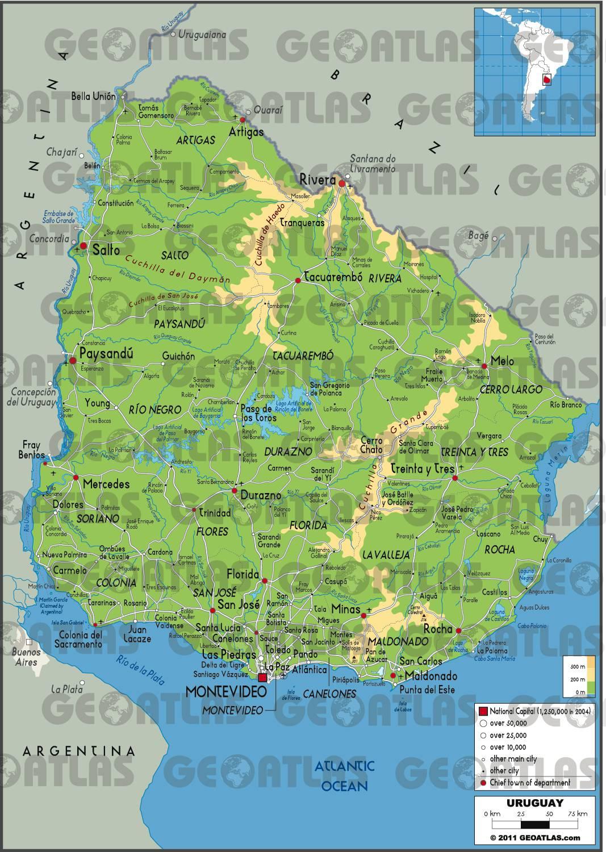 Carte De LUruguay