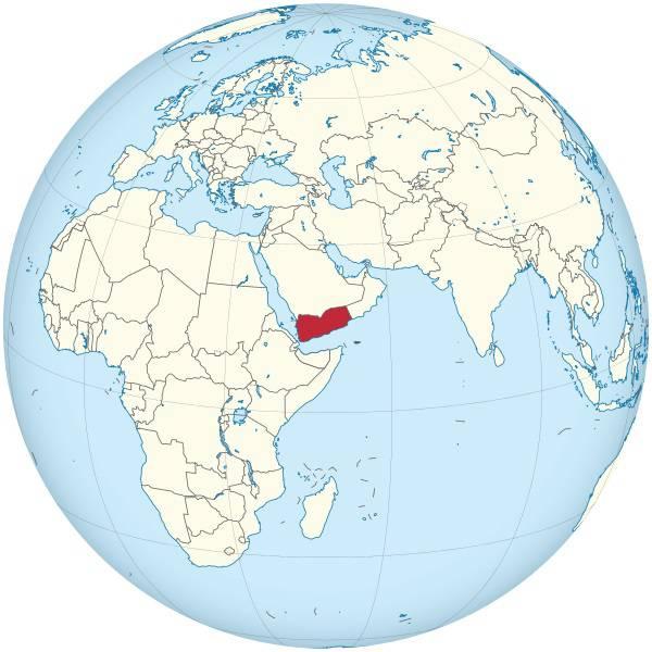 Yémen sur une carte d'Asie