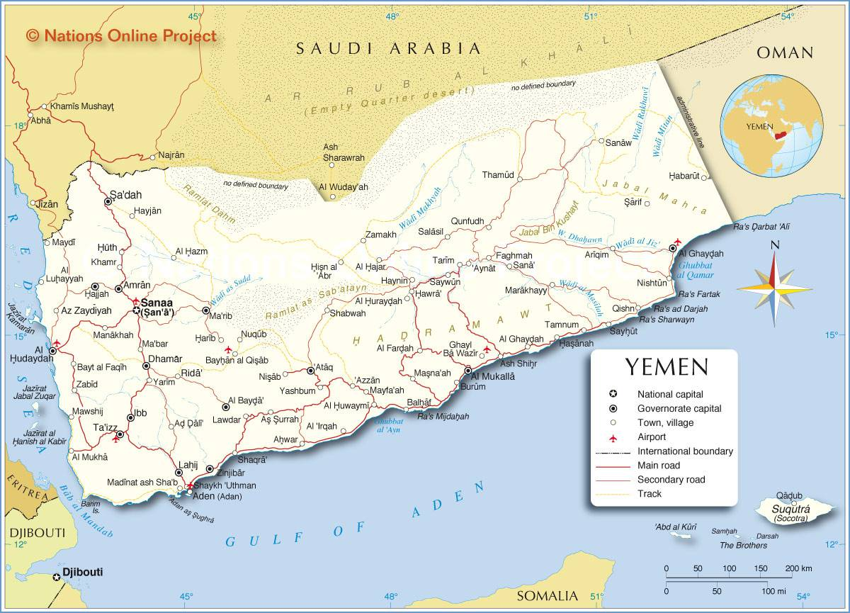 Yémen carte