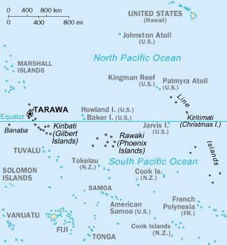 Les atolls de Kiribati