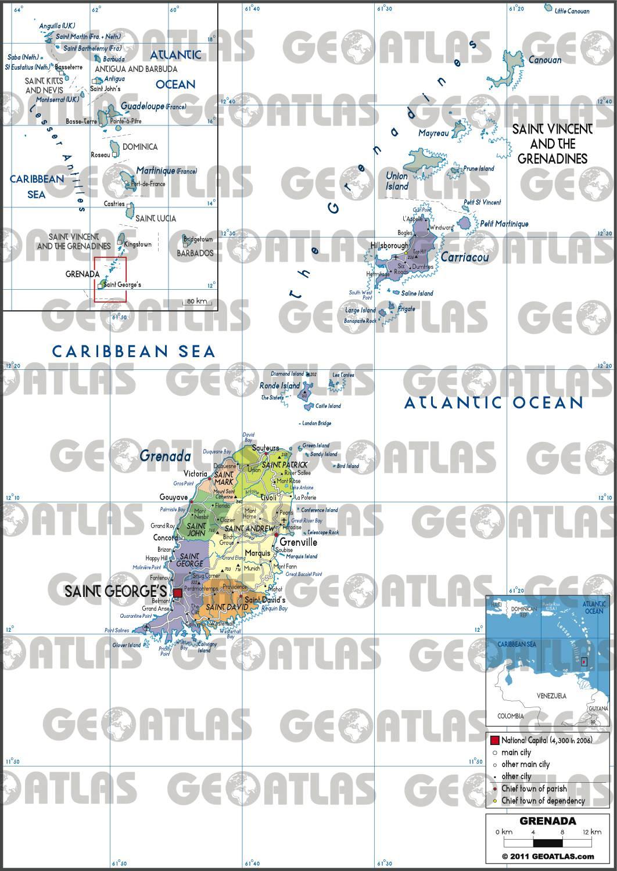 Carte administrative de Grenade