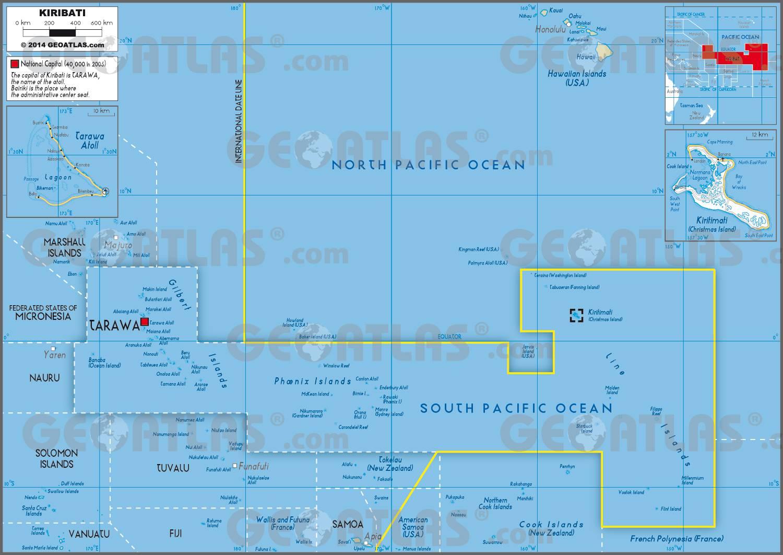 Carte administrative des Kiribati