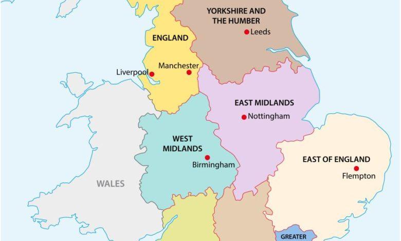 Photo of Carte de l'Angleterre