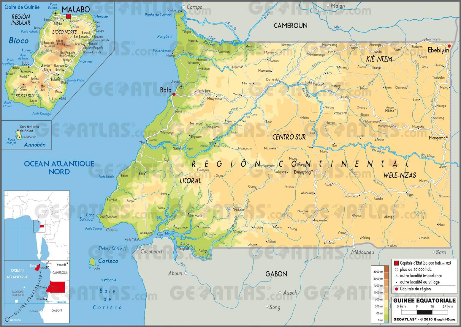 Carte de la Guinée-Equatoriale