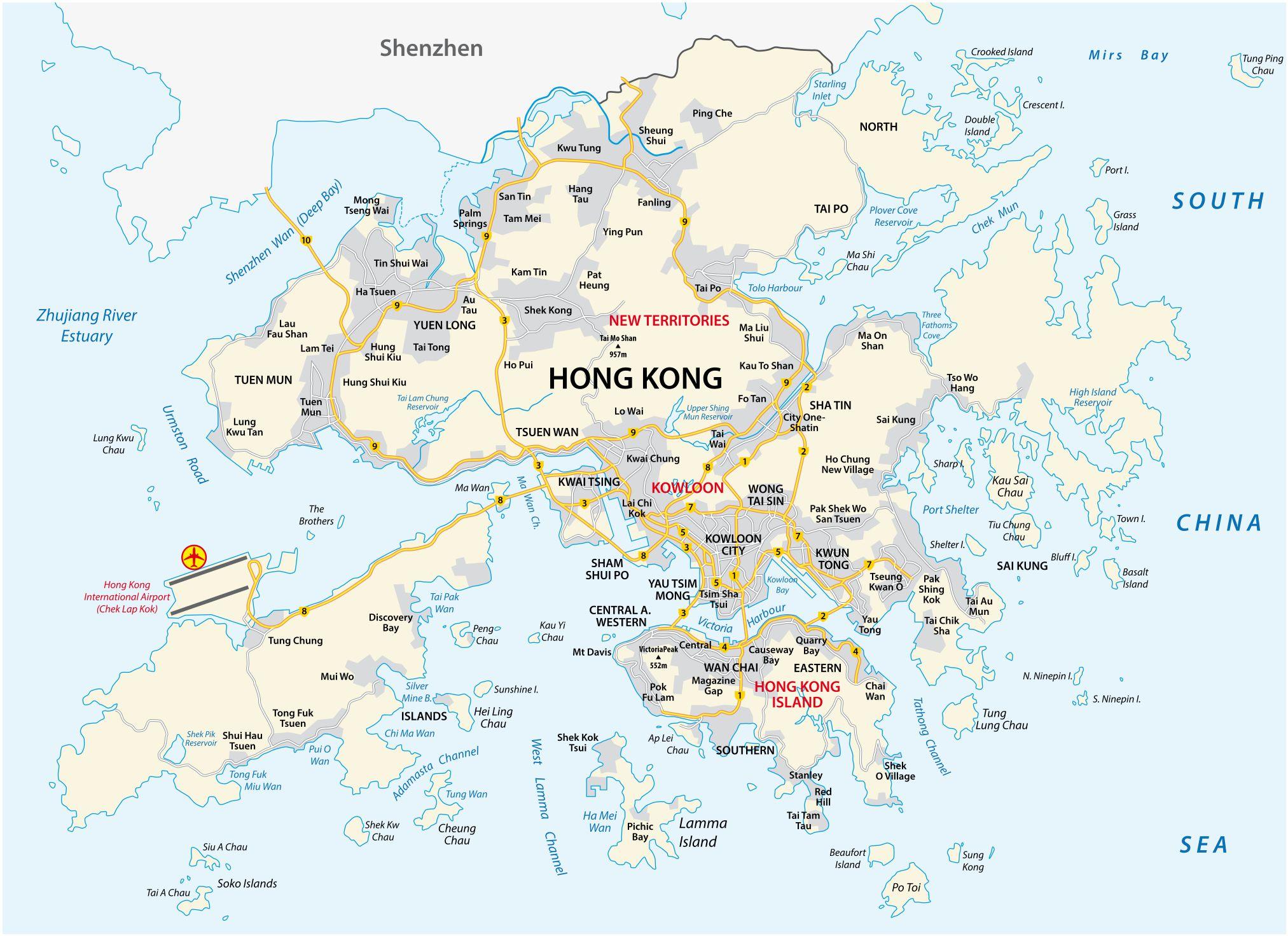 Carte de Hong-Kong