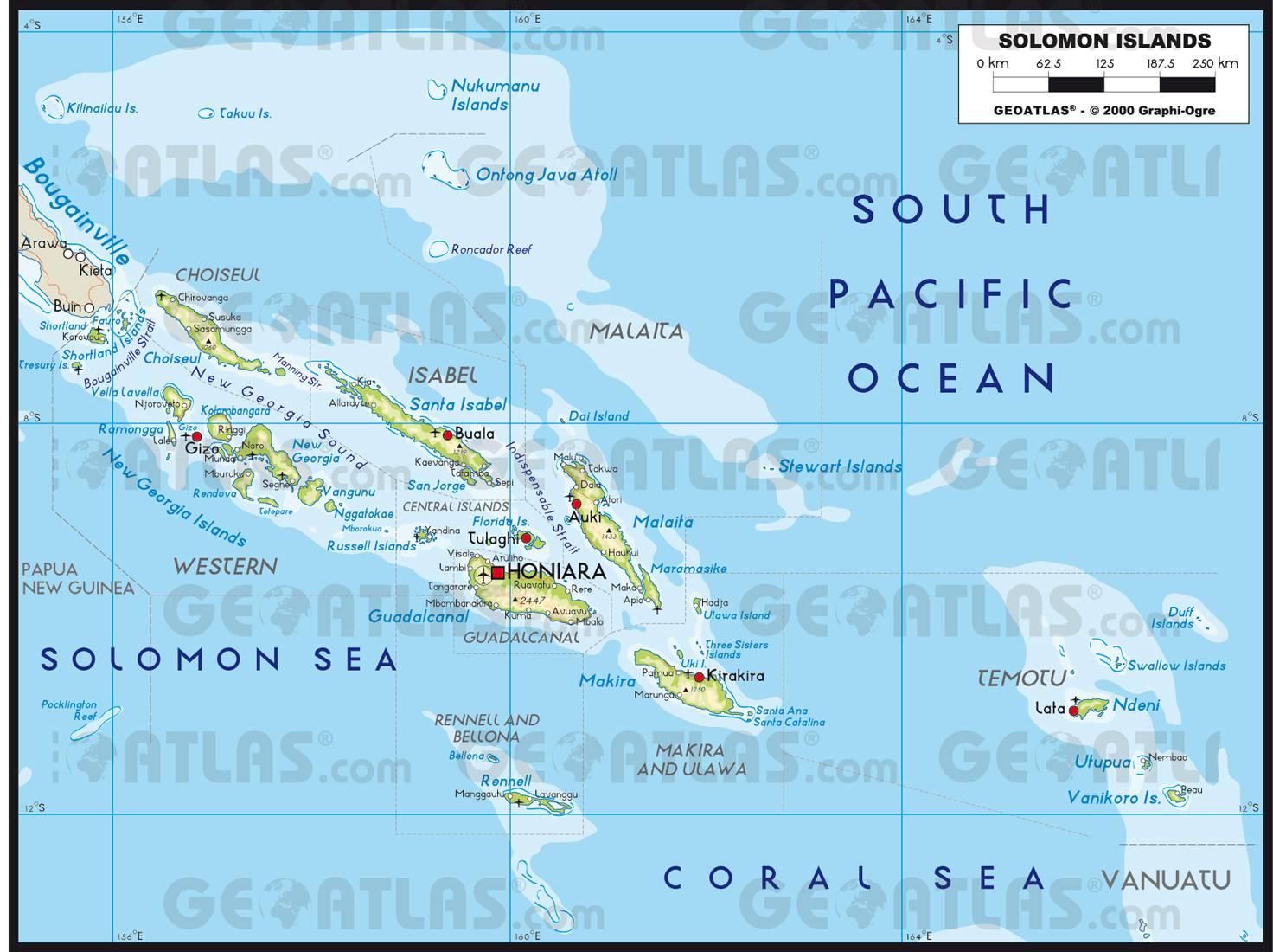 Carte des Îles Salomon