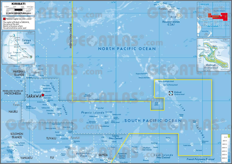 Carte de Kiribati