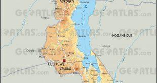 Carte du Malawi