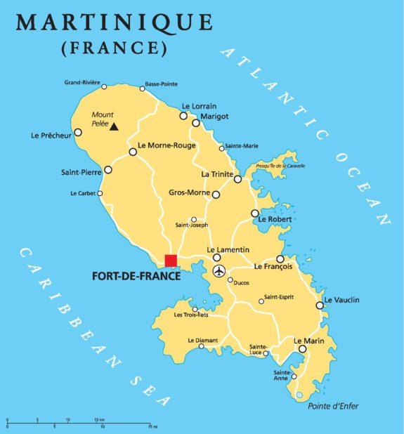 Carte de la Martinique