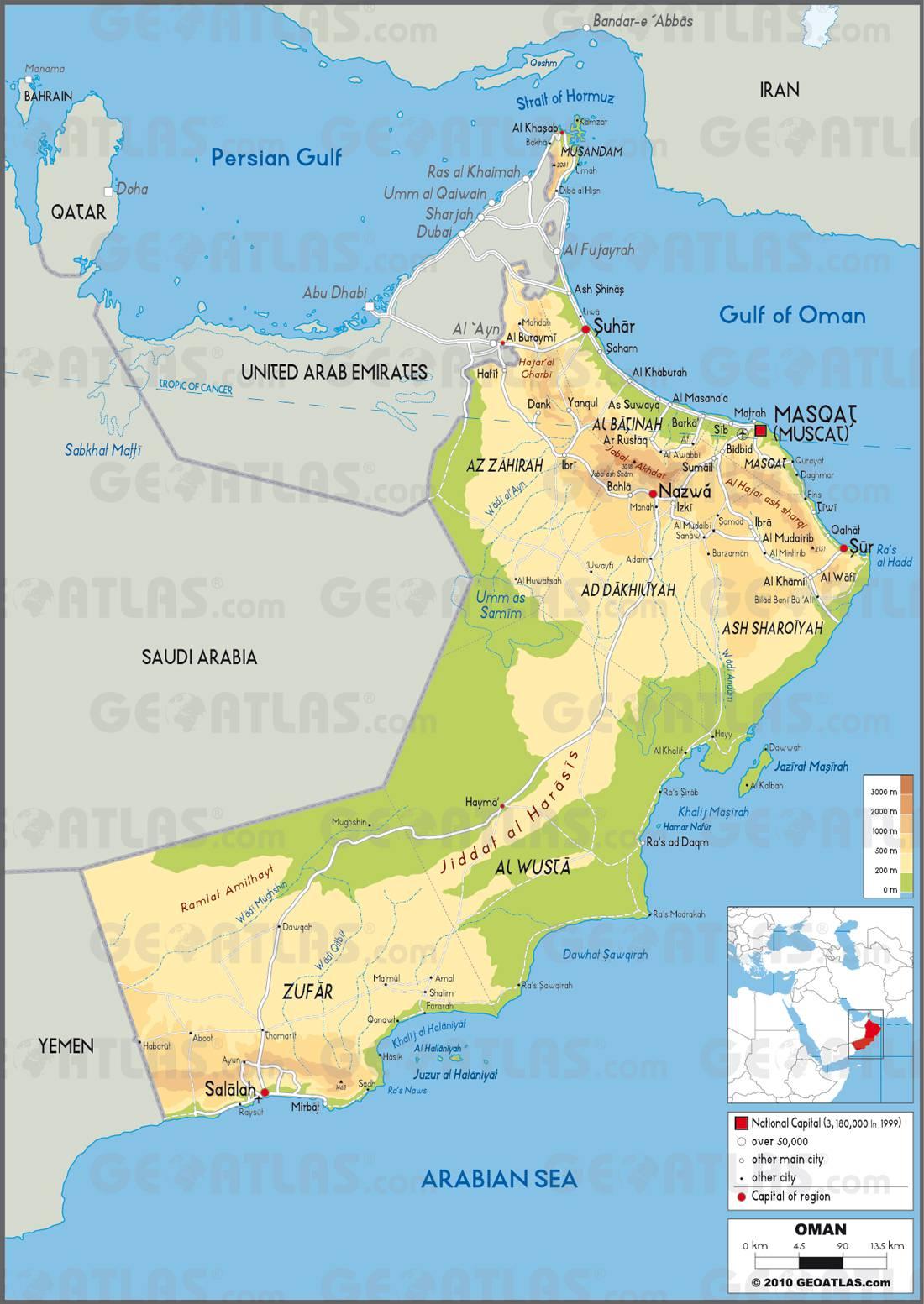 Carte d'Oman