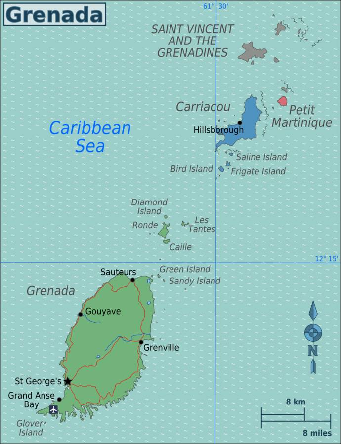 Carte politique de Grenade