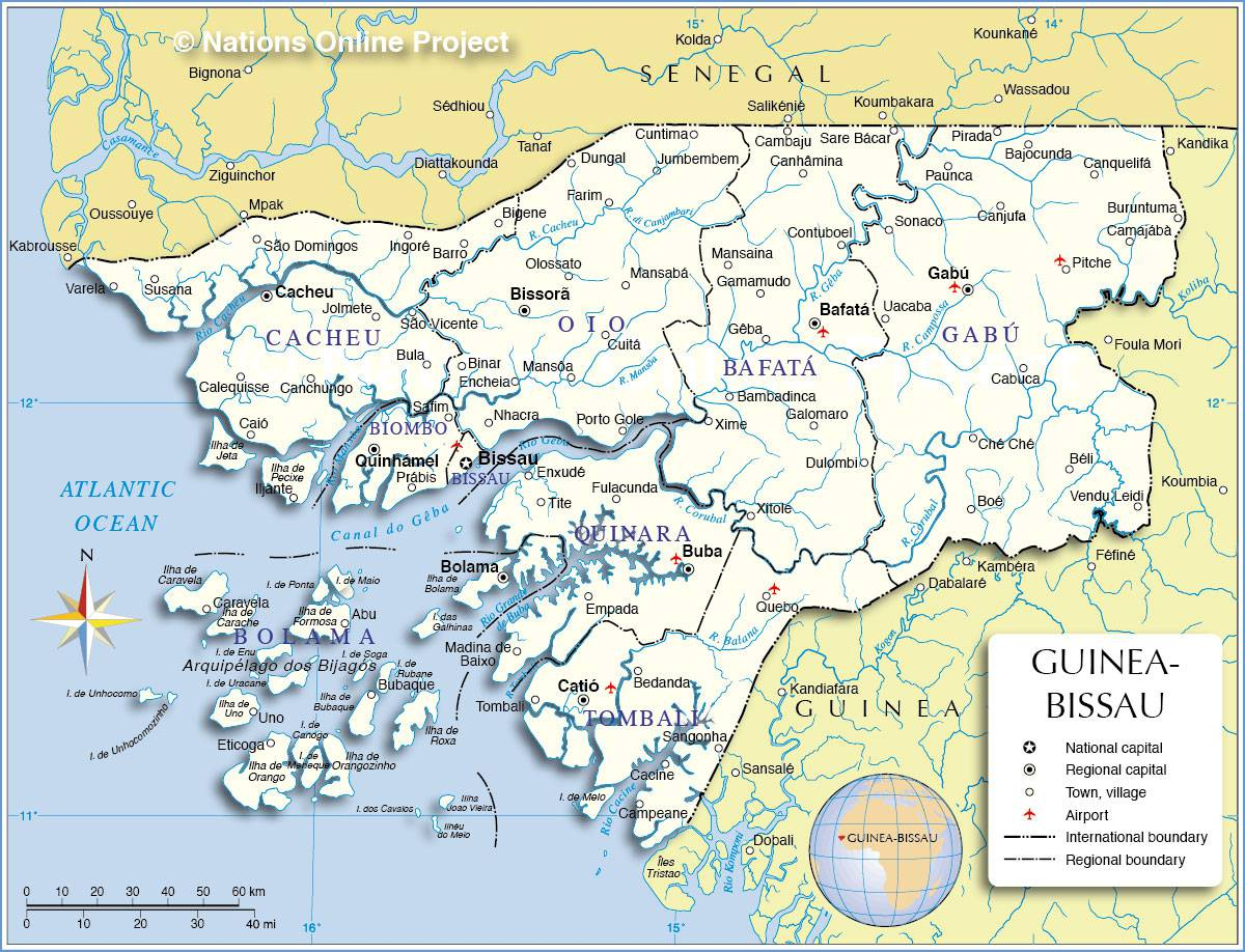 Carte de la Guinée-Bissau
