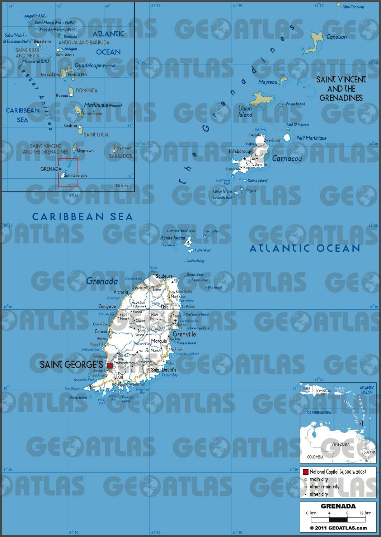 Carte routière de Grenade