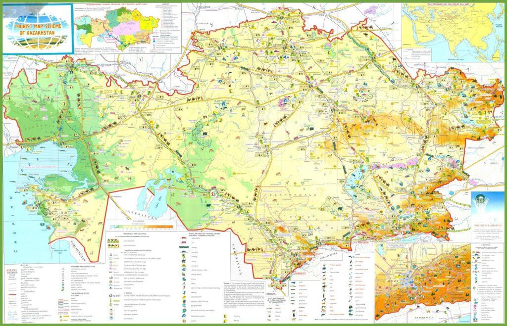 Carte touristique du Kazakhstan