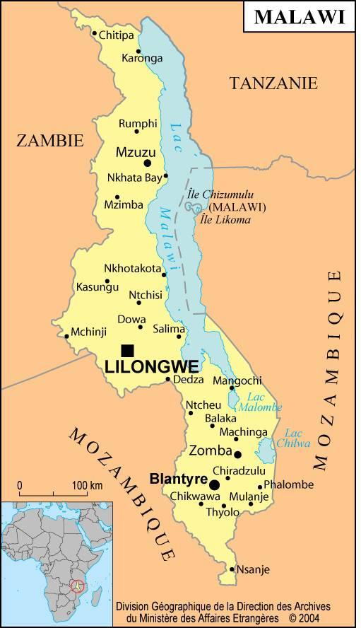 Malawi carte