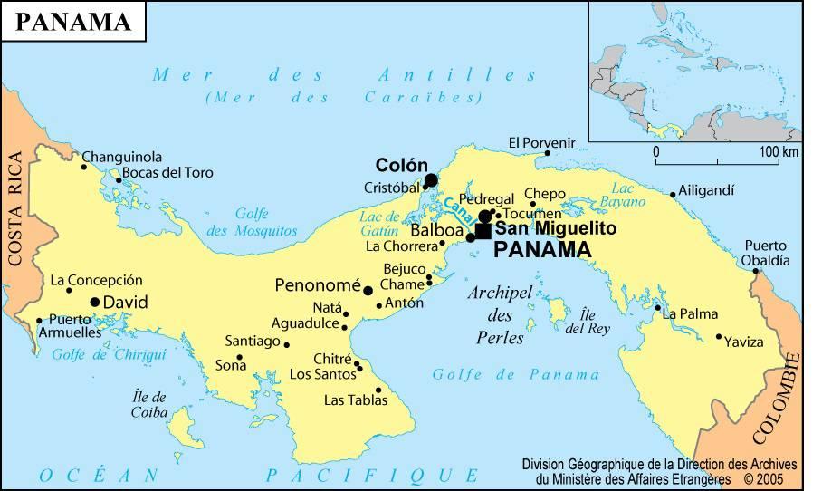 carte du panama-