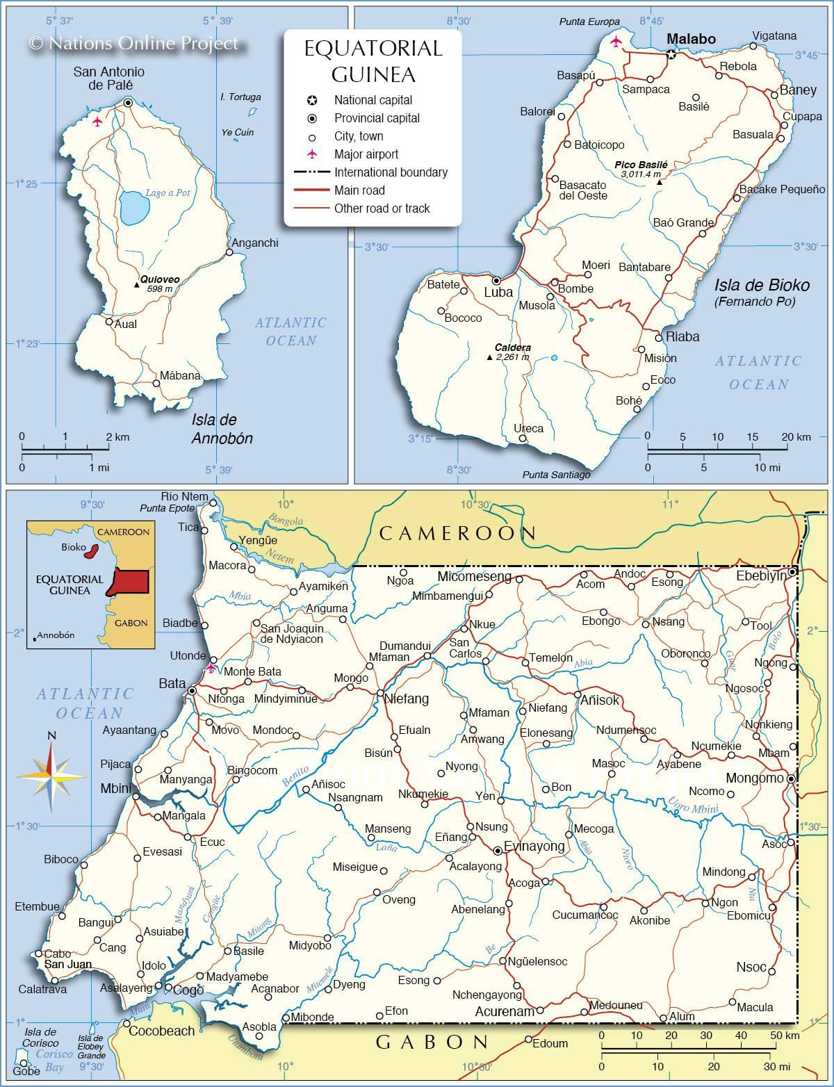 Guinée-Equatoriale carte