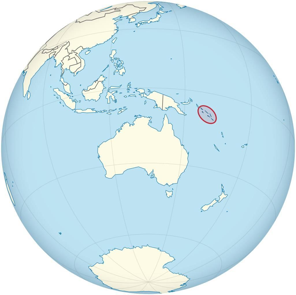 Îles Salomon sur une carte de l'Océanie