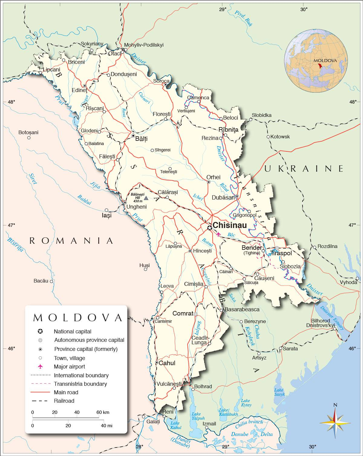 Carte de la Moldavie