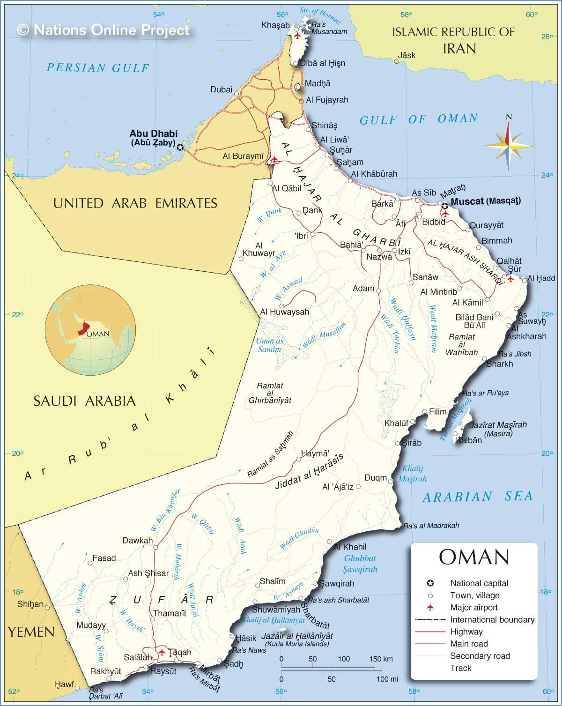 Oman carte