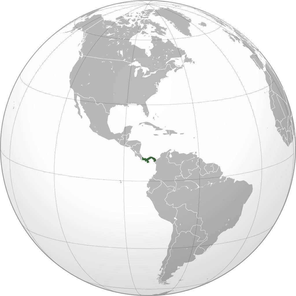Panama sur une carte de l'Amérique