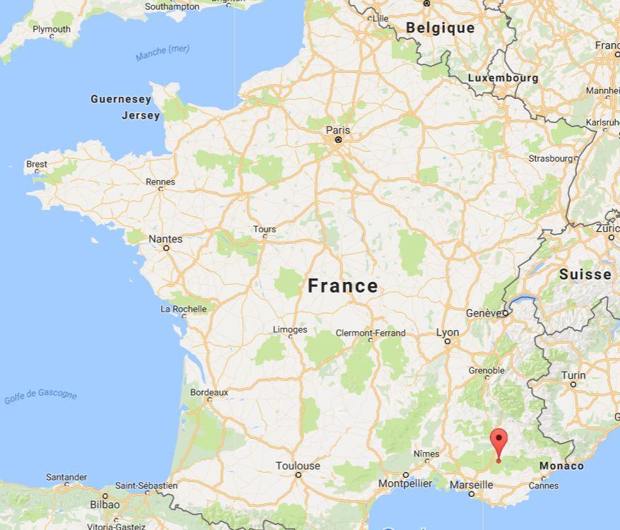 Plateau de Valensole sur une carte de France