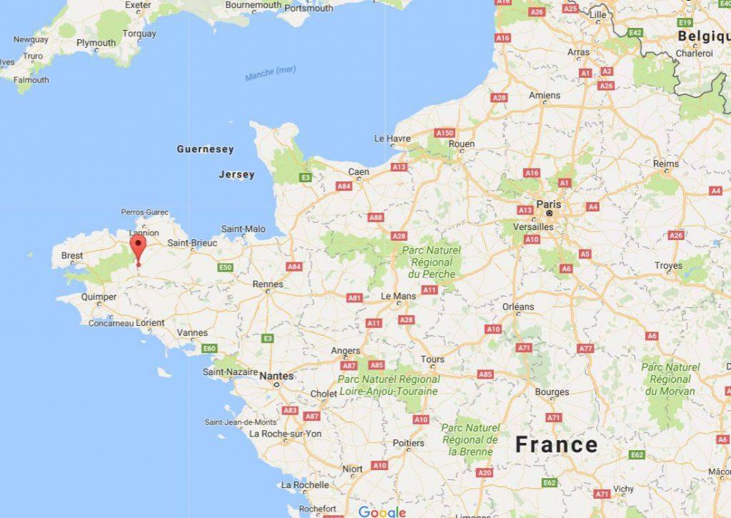 Vallée des Saint sur une carte de France