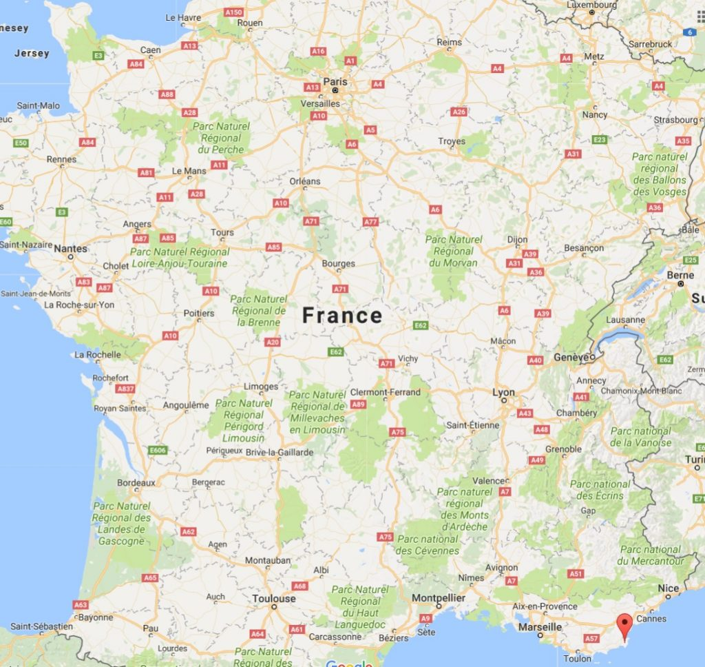 Village Ramatuelle sur une carte de France - Google Maps