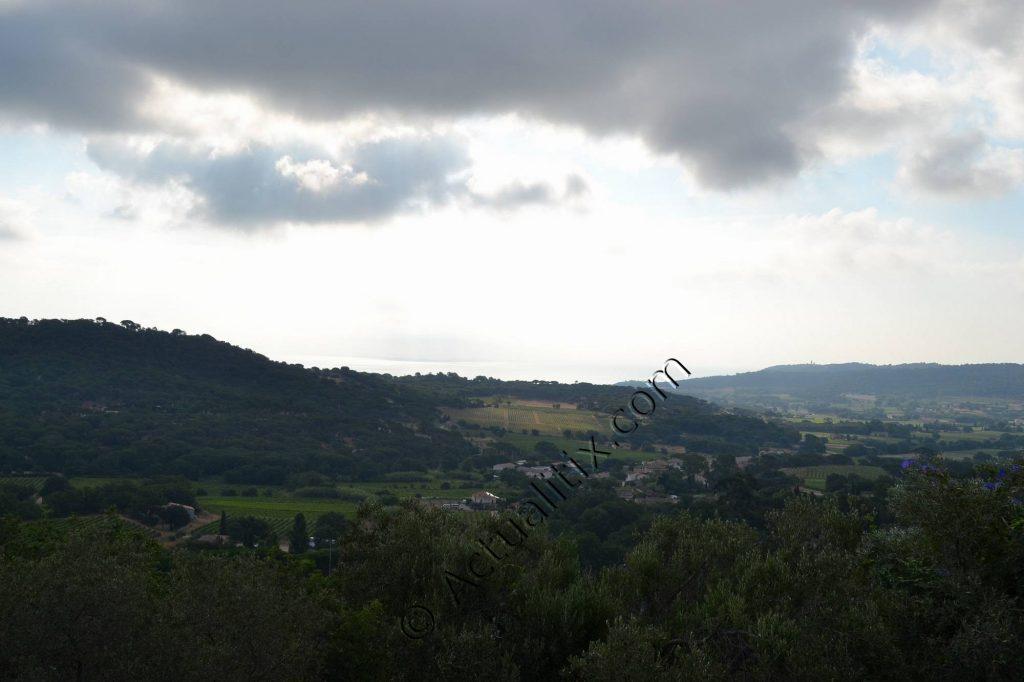 Vue depuis le village de Ramatuelle