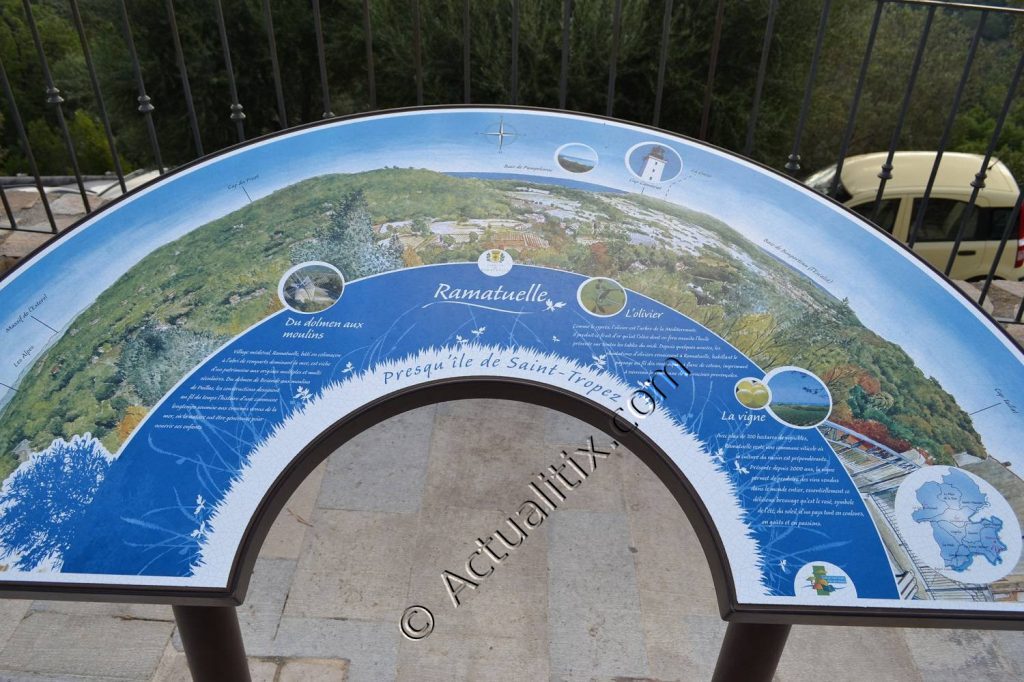 Vue panoramique possible depuis Ramatuelle