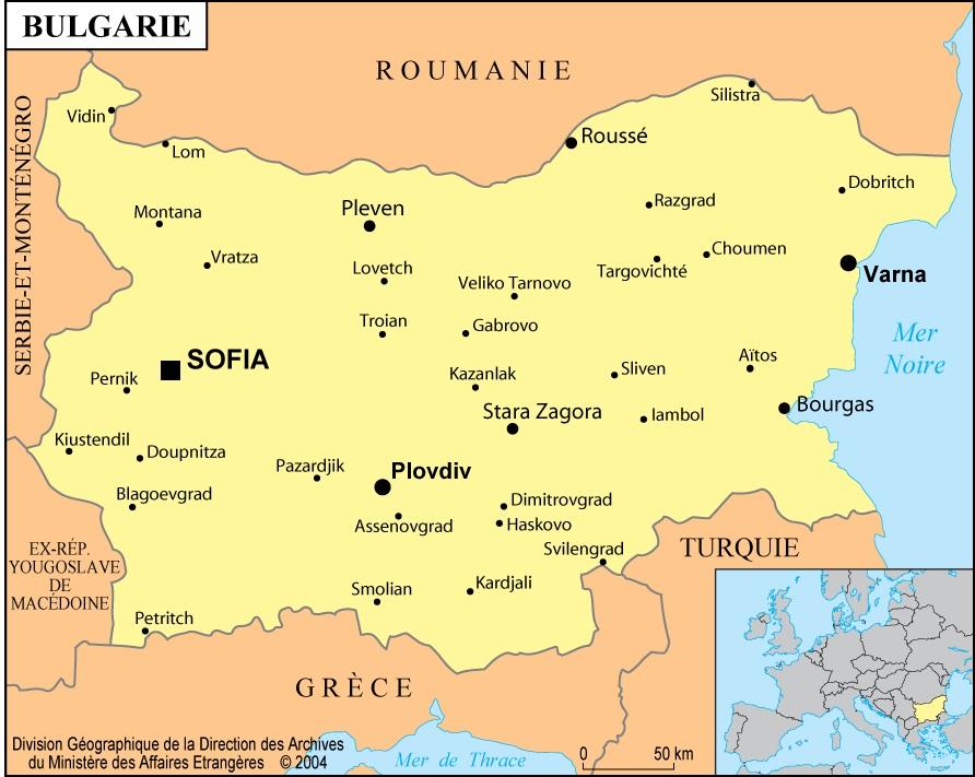 Bulgarie carte