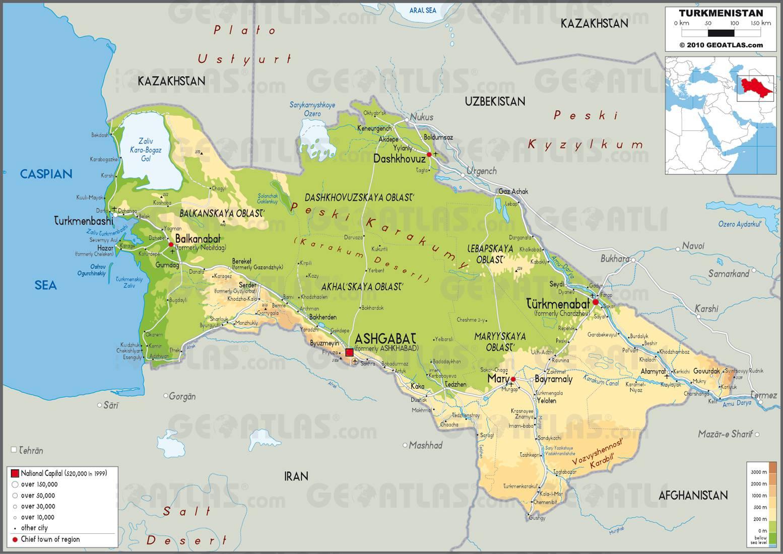 Carte du Turkménistan