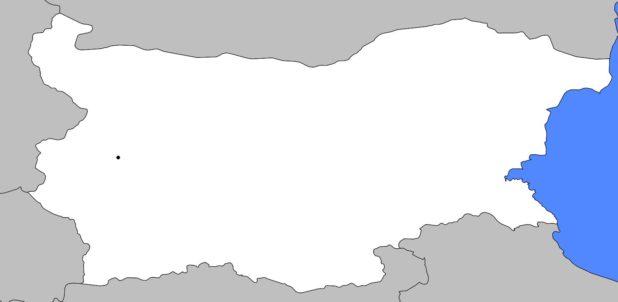 Carte vierge de la Bulgarie