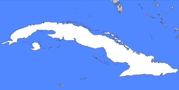 Carte vierge de Cuba