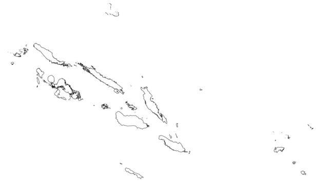 Carte vierge des Iles Salomon