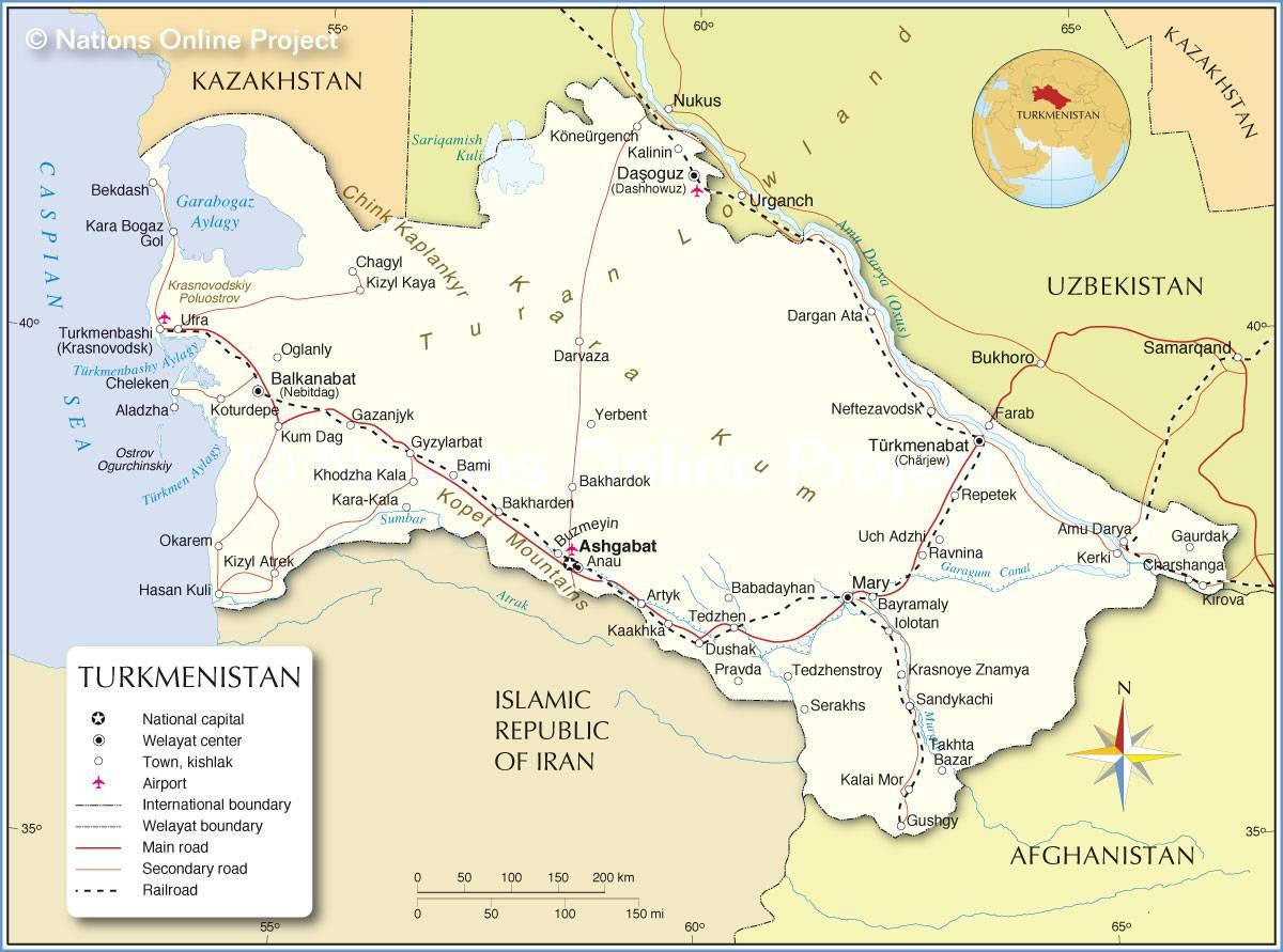 Turkménistan carte