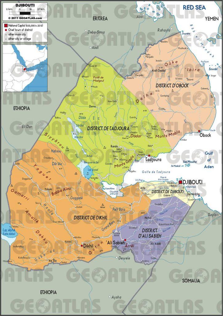 Carte administrative de Djibouti
