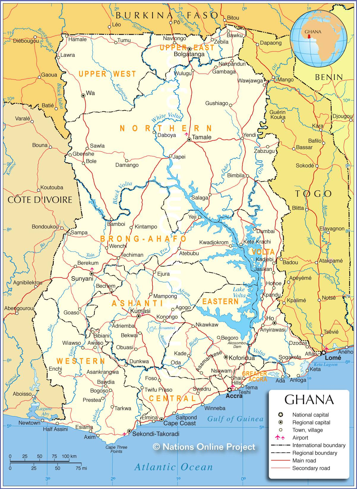 Photo of Carte du Ghana